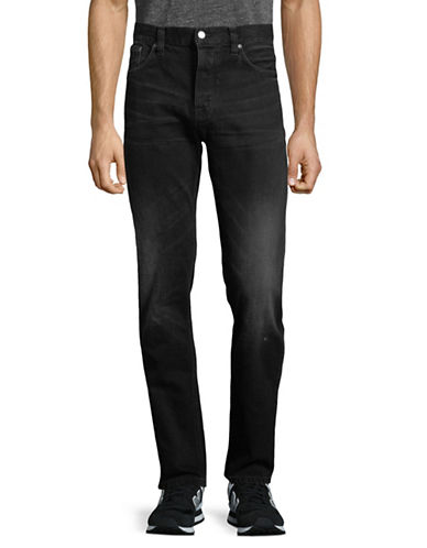 Nudie Jeans Fearless Freddie Cotton Jeans-BLACK-36X32