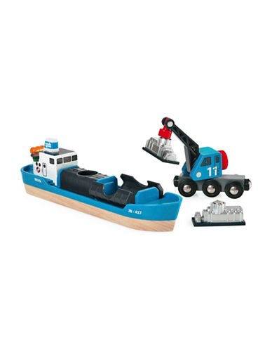 Brio Freight Ship and Crane Set-MULTI-One Size