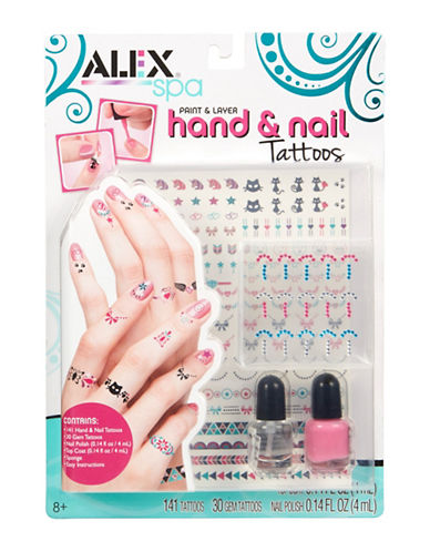 Alex Toys Spa Paint and Layer Hand and Nail Tattoos-MULTI-One Size