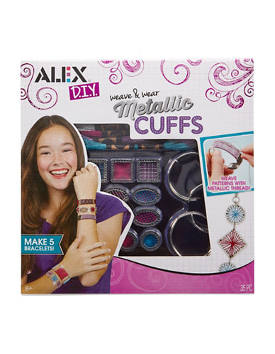 Alex Toys DIY Weave and Wear Metallic Cuffs-MULTI-One Size