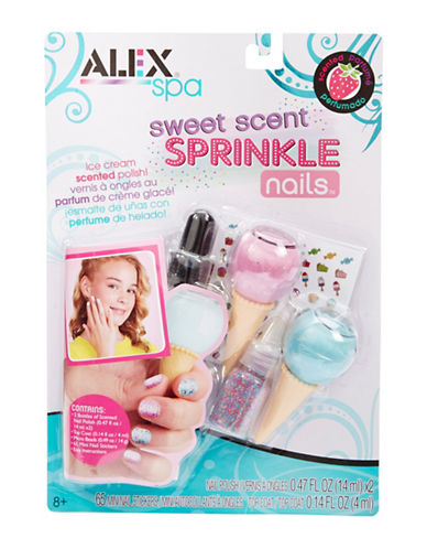 Alex Toys Sweet Scent Sprinkle Nail Polish Set-MULTI-One Size