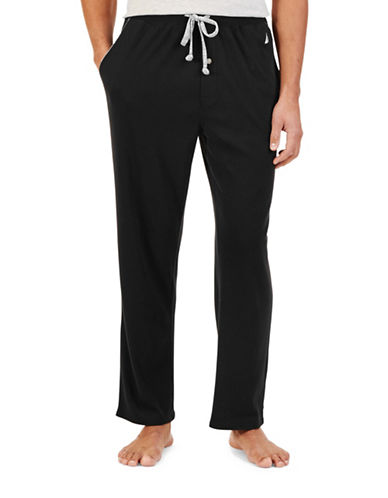 Nautica Drawstring Sleep Pants-BLACK-Large