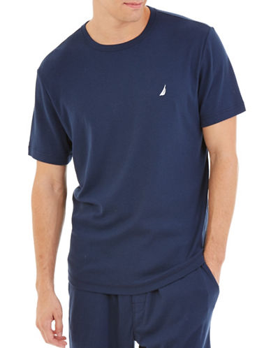 Nautica Big And Tall Solid Sleep T-Shirt-NAVY-1X Tall