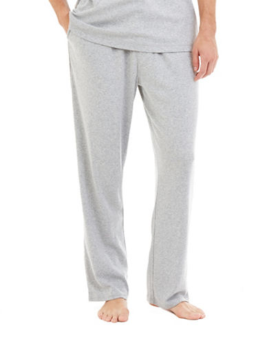 Nautica Big And Tall Solid King Lounge Pants-GREY-2X Tall