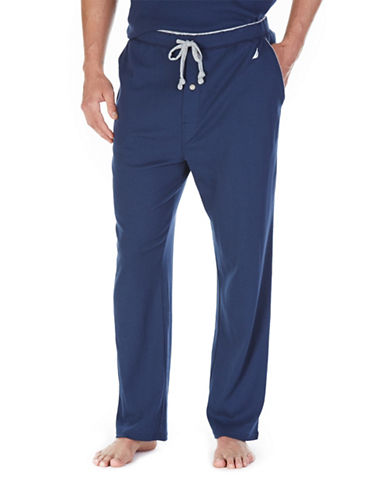 Nautica Big And Tall Solid King Lounge Pants-NAVY-3X Tall