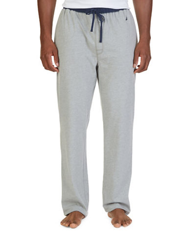Nautica Colourblock Lounge Pants-GREY HEATHER-Small