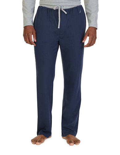 Nautica Colourblock Lounge Pants-MARITIME NAVY-Small