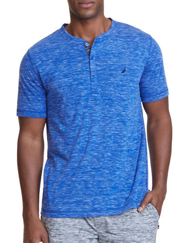 Nautica Regular-Fit Space-Dyed Henley-COBALT-Medium