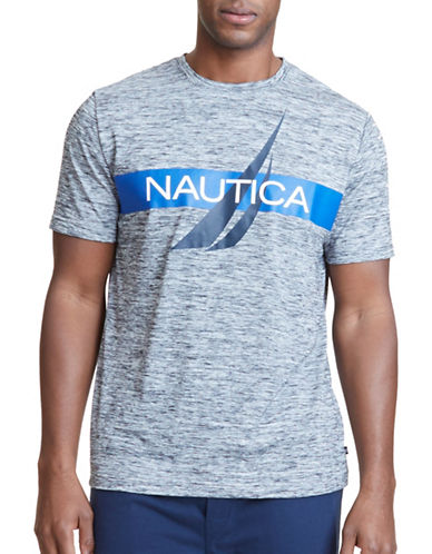 Nautica Space Dyed Graphic Sleep Tee-GREY-X-Large 89086158_GREY_X-Large