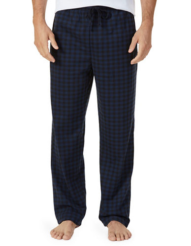 Nautica Lightweight Sueded Fleece Pajama Pants-NAVY-Medium
