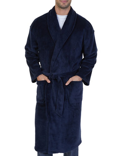 Nautica Plush Wrap Styling Robe-NAVY-One Size