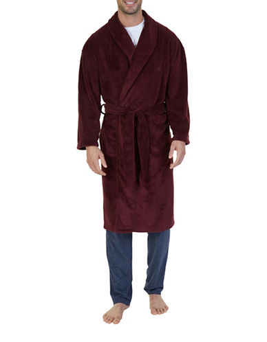 Nautica Plush Wrap Styling Robe-RED-One Size