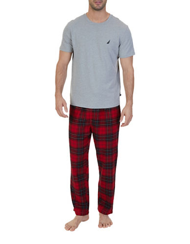 Nautica Plaid Pyjama Set-RED-Medium