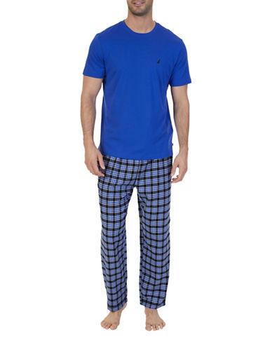 Nautica Plaid Pyjama Set-BLUE-Small