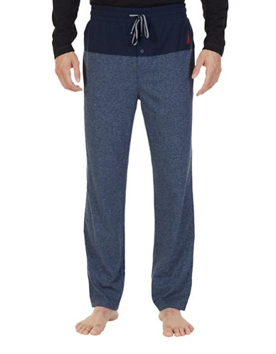 Nautica Heathered Pajama Pants-BLUE-Small