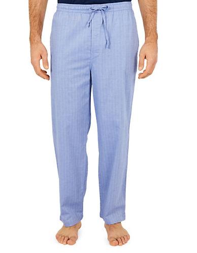 Nautica Captains Herringbone Pajama Pants-BLUE BONE-Small