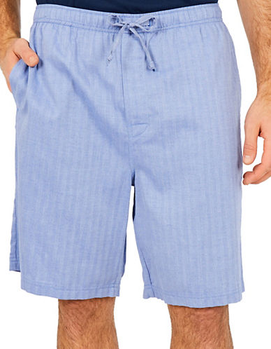 Nautica Captains Herringbone Sleep Shorts-BLUE-X-Large 83952874_BLUE_X-Large