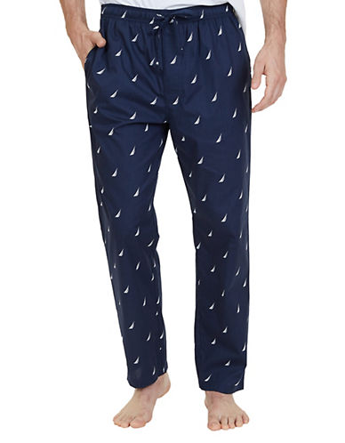 Nautica Cotton J-Class Sleep Pants-NAVY-Medium