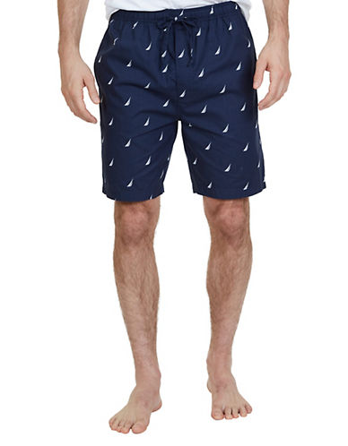 Nautica Cotton J Class Camp Shorts-NAVY-Small