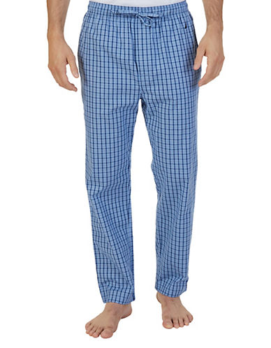 Nautica Plaid Sleep Pants-LIGHT BLUE-Large