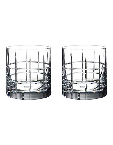 Orrefors Two-Pack Street Double Old Fashioned Drinking Glasses-CLEAR-One Size