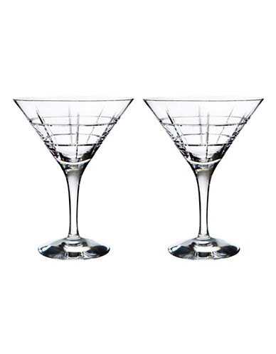 Orrefors Two-Pack Street Martini Glasses-CLEAR-One Size