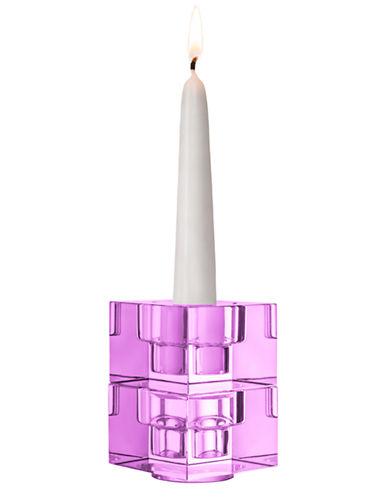 Orrefors Totem Balance Candlestick Pair Violet-VIOLET-Medium