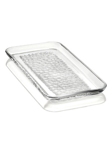 Orrefors Pearl Rectangular Crystal Platter-CLEAR-One Size