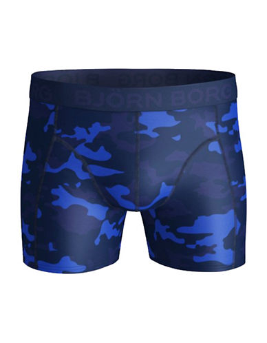 Bjorn Borg Tonal Camo Shorts-BLUE-Medium