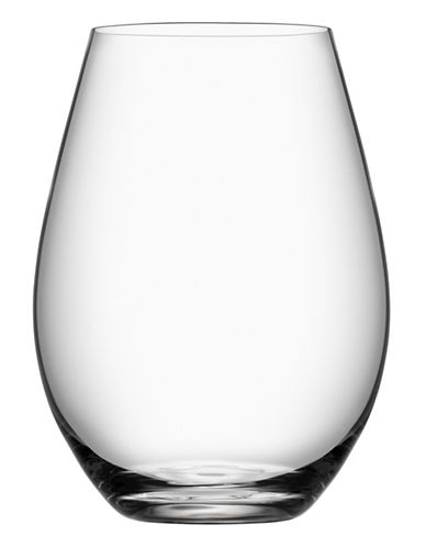 Orrefors Set of Four Stemless Wine Glasses-CLEAR-One Size