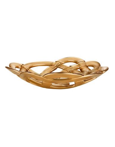 Kosta Boda Large Glass Basket-GOLD-One Size