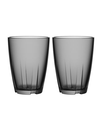 Kosta Boda Bruk Small Tumbler Pair-GREY-Small