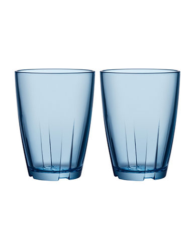 Kosta Boda Bruk Small Tumbler Pair-BLUE-One Size