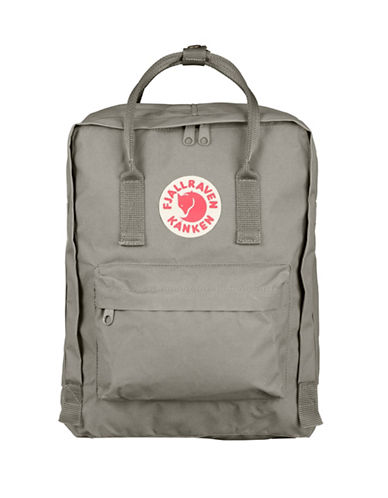 Fjallraven Kanken Logo Backpack-FOG-One Size