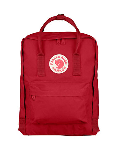 Fjallraven Kanken Logo Backpack-RED-One Size