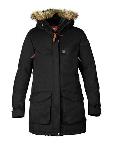 Fjallraven Nuuk Faux Fur Parka-BLACK-Large 88681503_BLACK_Large