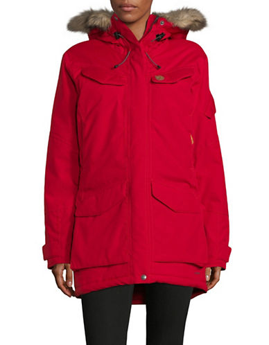 Fjallraven Nuuk Faux Fur Parka-BRIGHT RED-X-Small