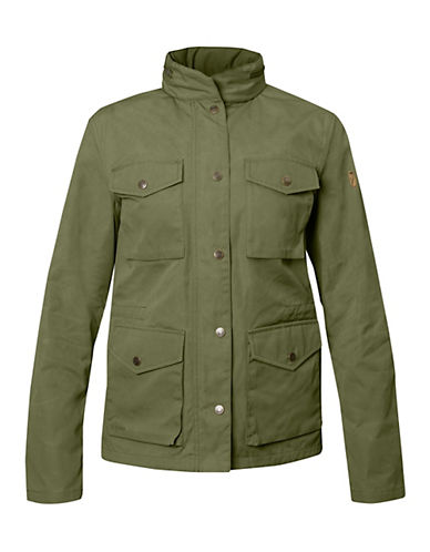 Fjallraven Zip Snap Jacket-GREEN-X-Small