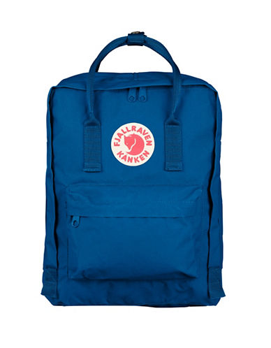 Fjallraven Kanken Logo Backpack-LAKE BLUE-One Size