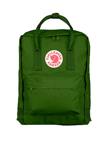 Fjallraven Kanken Logo Backpack-LEAF GREEN-One Size