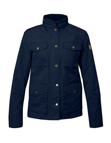 Fjallraven Zip Snap Jacket-BLUE-X-Small 88312667_BLUE_X-Small