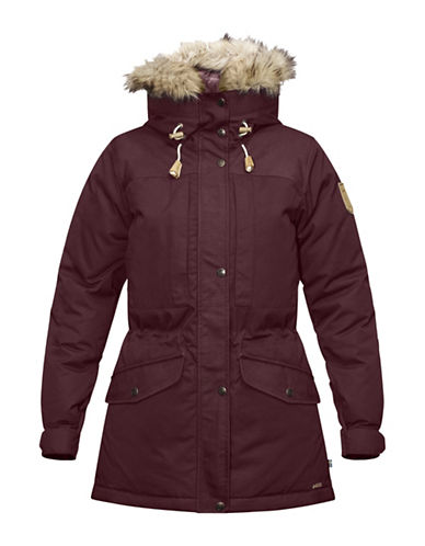 Fjallraven Singi Faux Fur Trim Hooded Jacket-RED-X-Small 88681499_RED_X-Small