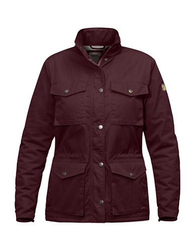Fjallraven Raven Winter Hooded Jacket-DARK RED-Large