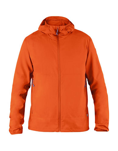 Fjallraven Abisko Hybrid Windbreaker-ORANGE-Small