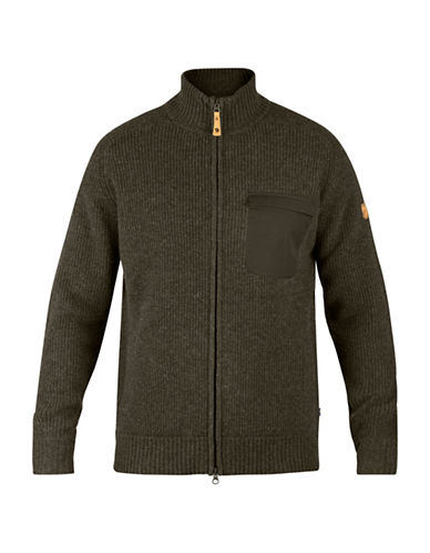 Fjallraven Sormland Zip Cardigan-GREEN-Medium