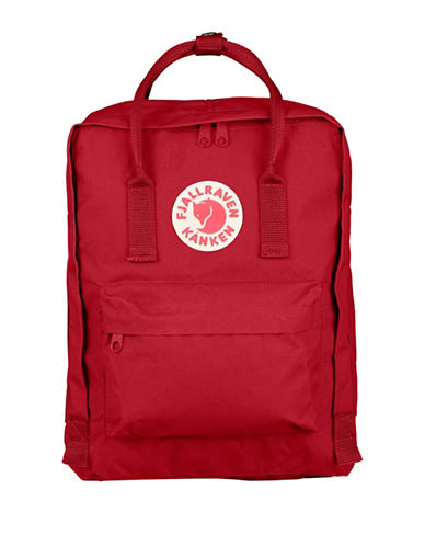 Fjallraven Kanken Logo Backpack-DEEP RED-One Size