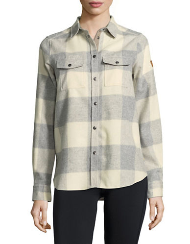 Fjallraven Check Wool-Blend Button-Down Shirt-NATURAL-X-Small