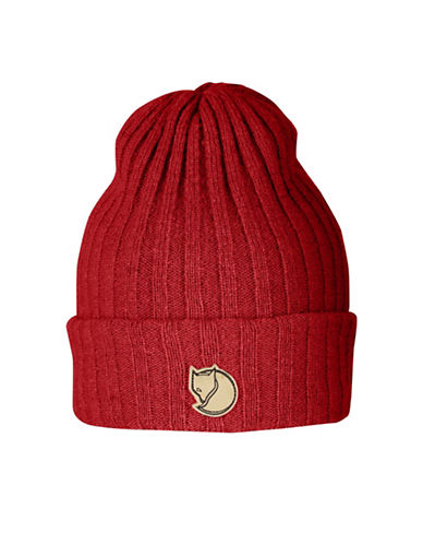 Fjallraven Byron Wool Beanie-RED-One Size