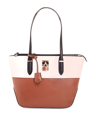 Nine West Reana Colourblock Shoulder Bag-TOBACCO-One Size