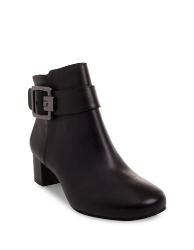 Nine West Passe Leather Booties-BLACK-8